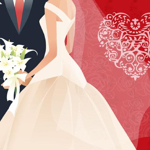 H5素材-爱情-爱心-结婚请柬-婚礼-新郎新娘