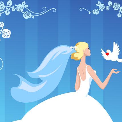 H5素材-爱情-爱心-鸽子-结婚请柬-婚礼-婚纱-花纹