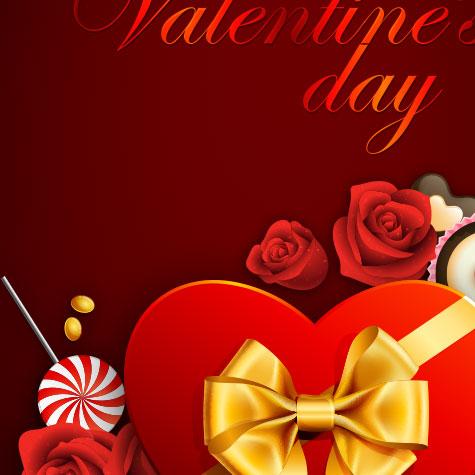 H5素材-爱情-爱心-巧克力-结婚请柬-婚礼-玫瑰