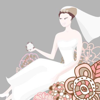 H5素材-爱情-爱心-鲜花-结婚请柬-婚礼-新娘-婚纱
