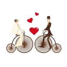 爱情-骑车-男女
