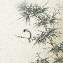 中国风-水墨-竹子-山水-H5素材