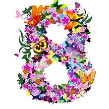 3.8-女神节-妇女节-节日素材-H5素材-花环