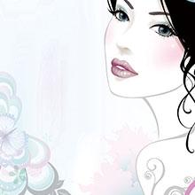 3.8-女神节-妇女节-节日素材-H5素材-卡通女性-花