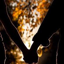 情感-情侣-牵手-夕阳-H5素材