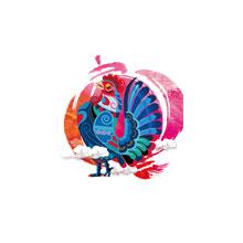 2017-新年-鸡年-中国风-新年-PNG-H5素材-鸡年吉祥