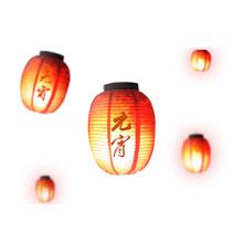 元宵节-元宵-彩色-节日-灯笼-漂浮