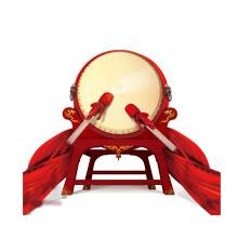 元宵节-元宵-彩色-节日-鼓-红绸-节奏