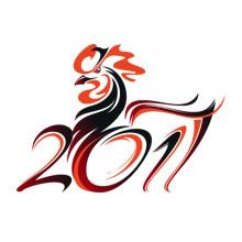 2017-新年-鸡年-中国风-鸡年吉祥