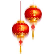 2017-新年-鸡年-中国风-灯笼-红