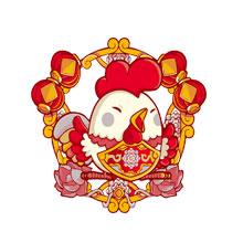 2017-新年-鸡年-中国风-福字-吉祥物-年味